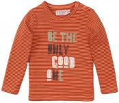 Dirkje T-Shirt Good One Neon Coral Stripe