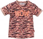 Dirkje T-Shirt Korte Mouw Wow Zebra