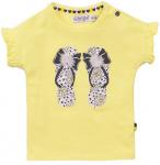 Dirkje T-Shirt Korte Mouw Flipflop Yellow