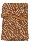 Meyco Ledikantdeken Velvet Zebra Camel 100 x 150 cm