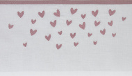 Meyco Ledikantlaken Hearts Lilac 100 x 150 cm