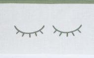 Meyco Ledikantlaken Sleepy Eyes Forest Green 100 x 150 cm