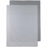 Meyco Wieglaken 2-Pack Uni Grijs/Lichtgrijs 75 x 100 cm