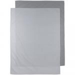 Meyco Ledikantlaken 2-Pack Uni Grijs/Lichtgrijs 100 x 150 cm