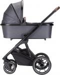 Qute Q-Rider Kinderwagen Zwart Frame/Steelblue Incl. Mamabag