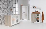 Combideal Complete Baby-Uitzet Kamer Rock + Kinderwagen On Tour + Matras Basicline + Badset Basicline + Q-sofa + Box Fleur