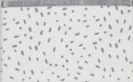 Briljant Ledikantlaken Minimal Dots Allover Grey 100 x 150 cm