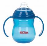 Nûby Beker Antilek Met Handvaten Blauw 270ml 6mnd+