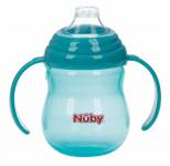 Nûby Beker Antilek Met Handvaten Aqua 270ml 6mnd+