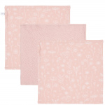 Little Dutch Monddoek Wild Flowers/Pure/Wild Flowers Pink 3-Pack