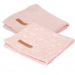 Little Dutch Multidoek Wild Flowers Pink/Pure Pink 70x70 cm 2-Pack