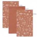 Little Dutch Washand Wild Flowers/Pure/Wild Flowers Rust 3-Pack