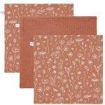 Little Dutch Monddoek Wild Flowers/Pure/Wild Flowers Rust 3-Pack