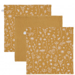 Little Dutch Monddoek Wild Flowers/Pure/Wild Flowers Ochre 3-Pack