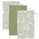 Little Dutch Washand Little Goose/Pure/Little Goose Olive 3-Pack