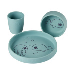 Done By Deer Dinner Set Siliconen Sea Friends Blue