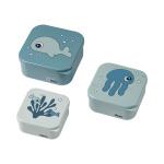 Done By Deer Snack Box Set Sea Friends Blue 3-Pack