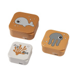 Done By Deer Snack Box Set Sea Friends Mustard/Grey 3-Pack