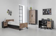 Bed 90 x 200 - Bureau - Nachtkastje - Hanglegkast 2 Deuren/1 Lade Lancaster