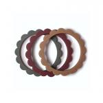 Mushie Bijt Armbanden Flower Dried Thyme/Natural/Berry (3 stuks)