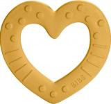 Bibs Bijtring Bitie Heart Mustard