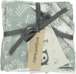 Briljant Monddoek Botanic Organic Stonegreen 4-Pack