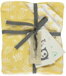Briljant Washandje Botanic Organic Geel  4-Pack
