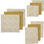 Meyco Starterset Hydrofiel Luier - Monddoek - Washand Zebra Cheetah Honey Gold 9-Pack