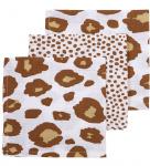 Meyco Monddoek Panter / Cheetah Camel 30x30cm 3-Pack
