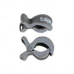 Lodger Multidoek Clips Carbon-Stripe 2-Pack