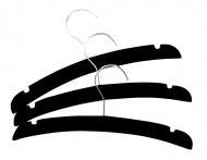 Titaniumbaby Kledinghanger Hout Zwart 3-Pack