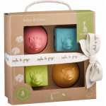 Sophie De Giraf So'Pure Set Van 2 Speelballen En 2 Stapelblokken
