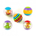 Bright Starts Shake & Spin Activity Balls 5 Stuks