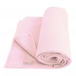 Cottonbaby Wiegdeken Wafel Roze 75 x 90 cm