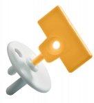 Safety 1st Stopcontactbeveiliger Met Gele Sleutel (12 stuks)