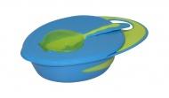 Babydump Collectie Voedingsbord + Lepel Blauw/Groen