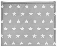 Jollein Boxkleed Little Star Dark Grey  75 x 95 cm