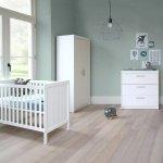 Europe Baby Ledikant 60-120 Wit / Commode 3 Laden / Hanglegkast 2 Deuren
