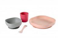 Beaba Eetset Siliconen Pink 4Delig
