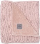 Jollein Wiegdeken River Knit  Pale Pink/Coral Fleece   75 x 100 cm