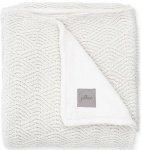 Jollein Wiegdeken River Knit Cream White/Coral Fleece   75 x 100 cm