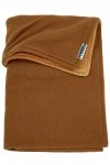 Meyco Wiegdeken Knit Basic Camel Met Velvet 75 x 100 cm