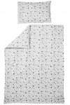 Meyco Juniorovertrek Dots Grijs  120 x 150 cm