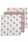 Meyco Luier Block Stripe Camel 3pck