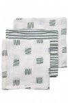 Meyco Monddoek Block Stripe Forest Green 3-Pack