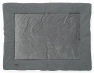Jollein Boxkleed Brick Velvet Storm Grey 80 x 100 cm