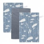 Little Dutch Washand Ocean Blue/Pure Blue/Ocean Blue 3-Pack