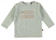 Babylook T-Shirt Geschikt Grey Melee