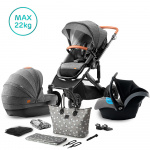 Kinderkraft Combi 3 in 1 PRIME Grey Incl Autostoel/Mommy Bag