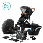 Kinderkraft Combi 3 in 1 PRIME Black Incl Autostoel/Mommy Bag